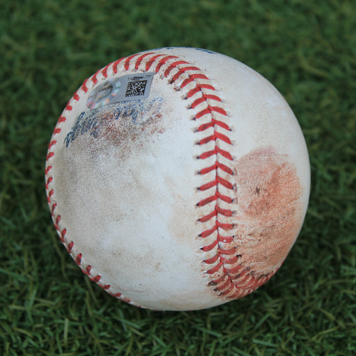 Photo of Game-Used Baseball: Zach Plesac 117th Career Strikeout (CLE @ KC 9/1/20)
