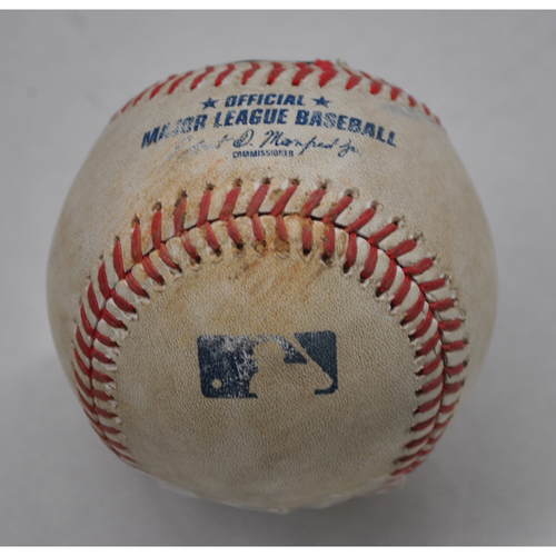 Photo of Game-Used Baseball - 2020 NLCS - Los Angeles Dodgers vs. Atlanta Braves - Game 3 - Pitcher: Huascar Ynoa, Batter: Mookie Betts (Foul) - Top 4
