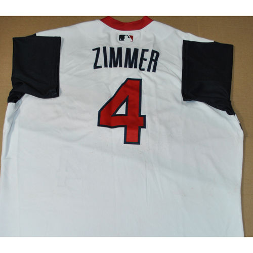 Photo of Game-used Jersey - 2021 Little League Classic - Los Angeles Angels vs. Cleveland Indians - 8/22/2021 - Great Lakes, Bradley Zimmer #4