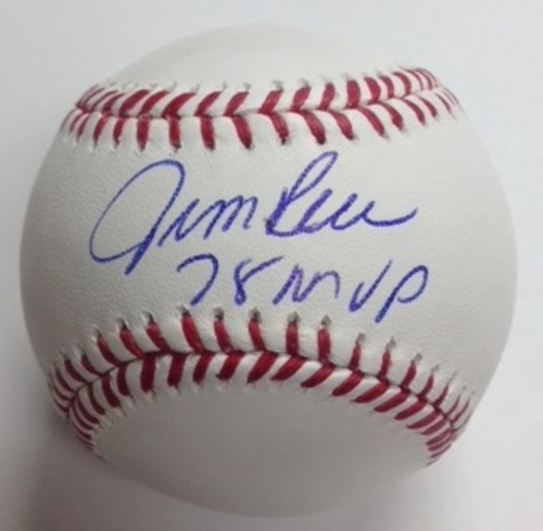"Photo of Jim Rice Autographed ""78 MVP"" Baseball"