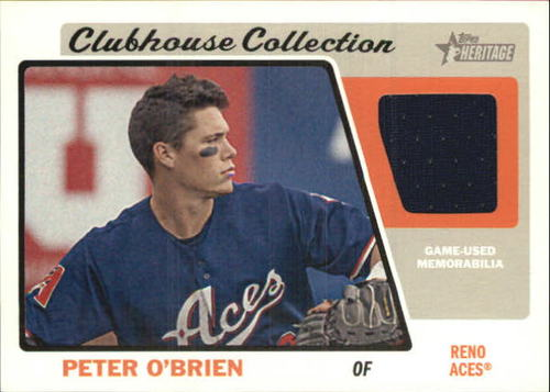Photo of 2015 Topps Heritage Minors Clubhouse Collection Relics #CCRPO Peter O'Brien