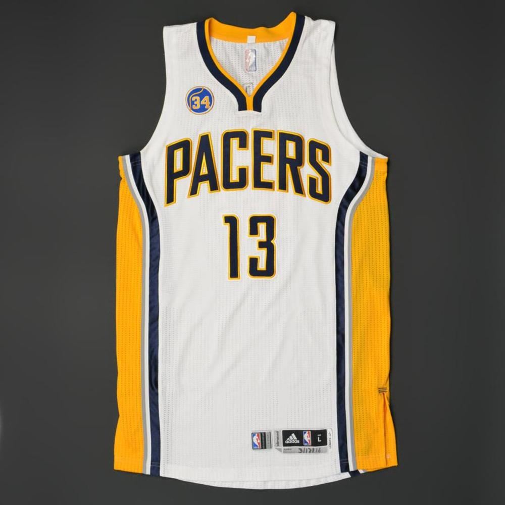 the best attitude d2f11 90981 Paul George - Indiana Pacers - Game-Worn Regular Season ...