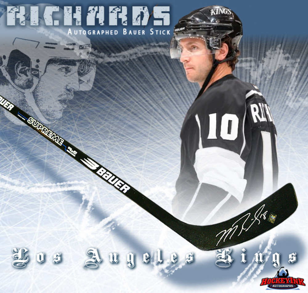 MIKE RICHARDS Signed Bauer Stick - Los Angeles Kings