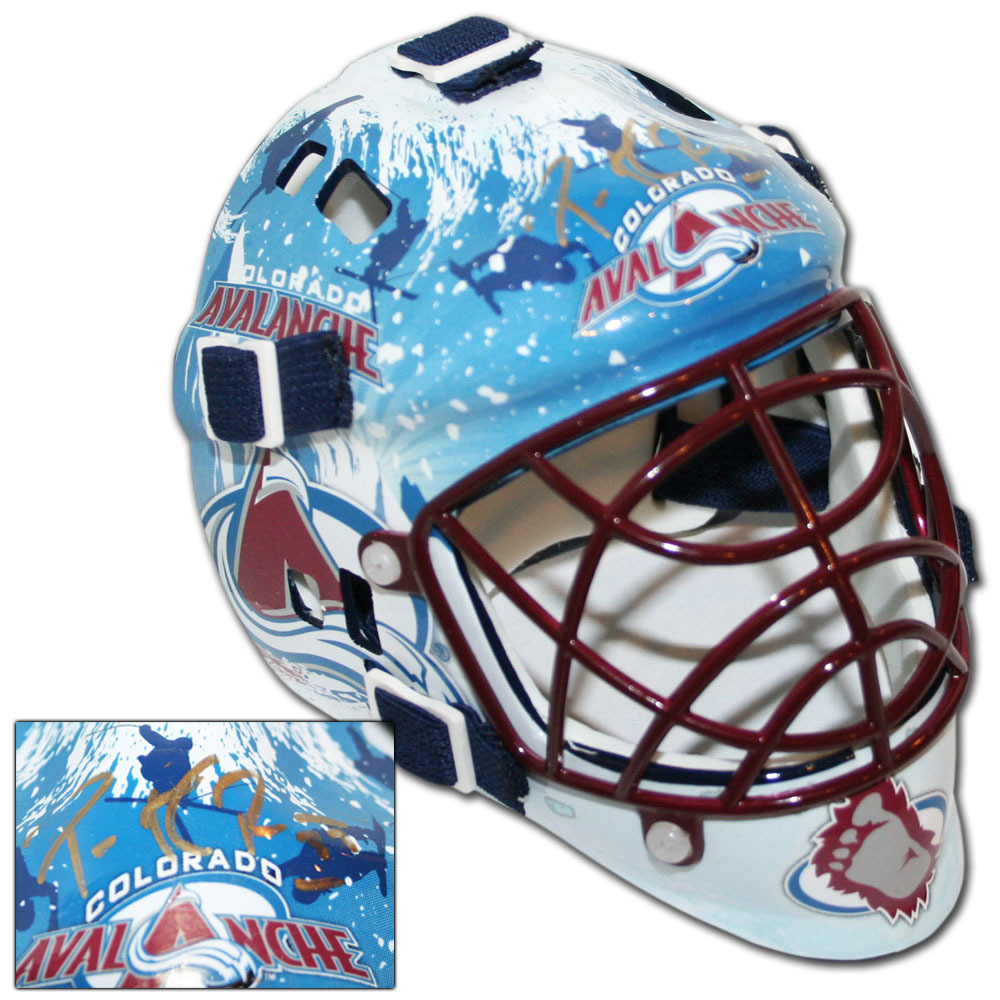 Patrick Roy Autographed Colorado Avalanche Mini-Goalie Mask