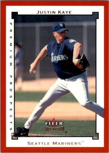 Photo of 2002 Fleer Premium Star Ruby #229 Justin Kaye PROS
