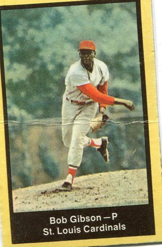 Photo of 1969 Nabisco Team Flakes #9 Bob Gibson S3  Note crease at cemter