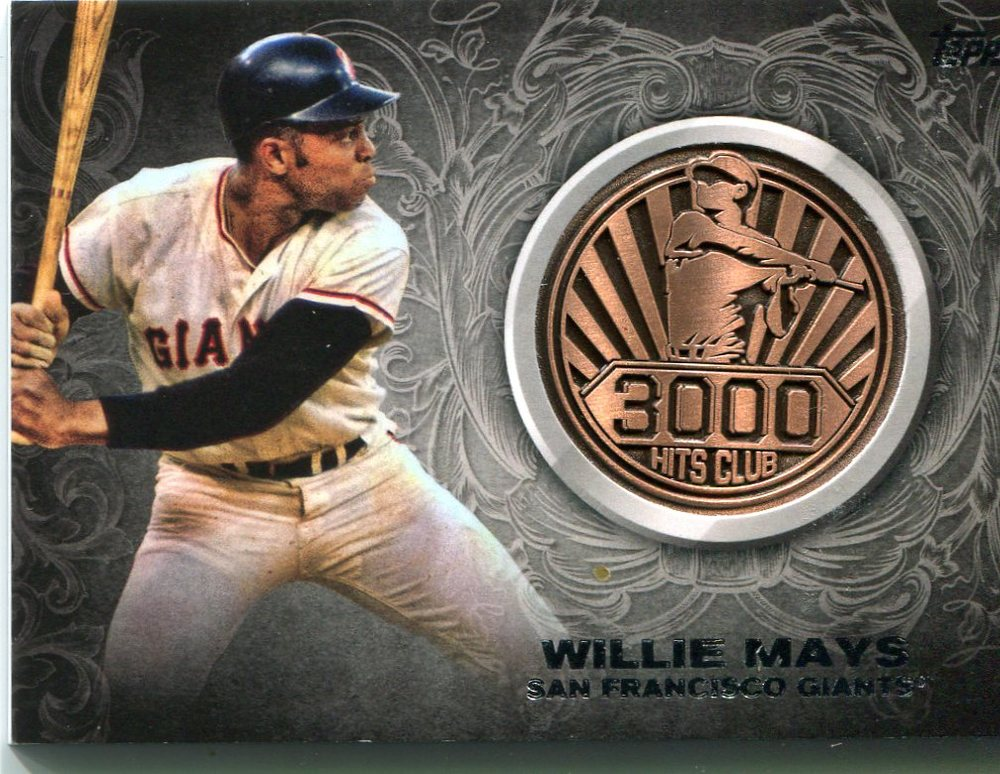 2016 Topps Update 3000 Hits Club Medallions Willie Mays