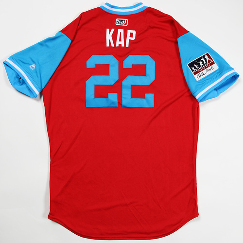 "Photo of Gabe ""Kap"" Kapler Philadelphia Phillies Game-Used Jersey 2018 Players' Weekend Jersey"