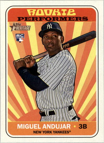 Photo of 2018 Topps Heritage Rookie Performers #RPMA Miguel Andujar