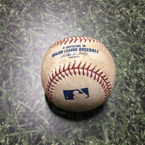 Photo of Game-Used Baseball PIT@MIL 08/14/11 - Charlie Morton - Ryan Braun: Ball