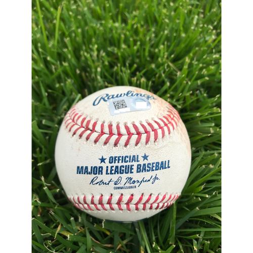 Cardinals Authentics: Game Used Baseball Pitched by Jordan Hicks to Bryce Harper and Rhys Hoskins *Harper Strikeout, Hoskins Foul*