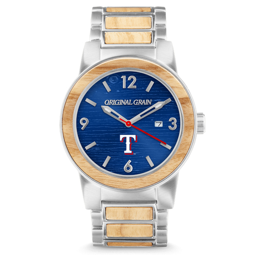 Photo of Texas Rangers - Reclaimed Baseball Bat Watch