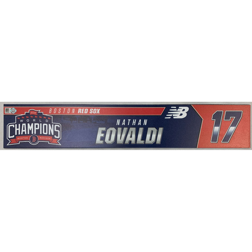 Photo of Nathan Eovaldi Team Issued June 9, 2019 Locker Tag