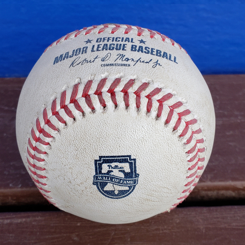 Photo of 2020 Philadelphia Phillies Game-Used Baseball - PRESALE: Wall of Fame Night 8/8 vs. SF