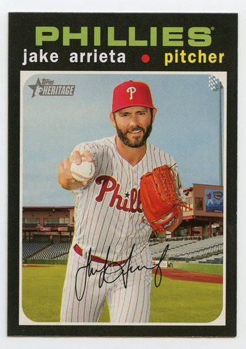 Photo of 2020 Topps Heritage #287 Jake Arrieta