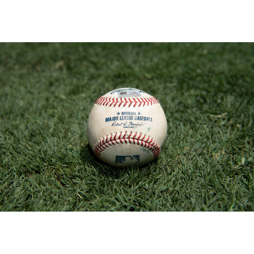 Photo of Game Used Baseball: Pitcher: Justin Dunn, Batter: Shohei Ohtani - 3-Run Home Run - Bot 4 - 7-29-2020 vs. SEA