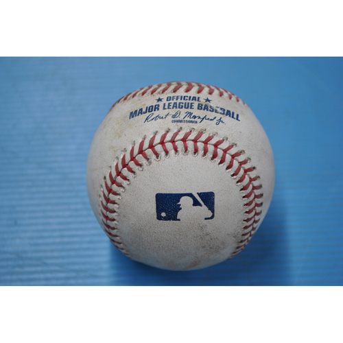 Photo of Game-Used Baseball - 9/22/2020 - CHI @ PIT - Pitcher - Steven Brault, Batter - Anthony Rizzo (CHI), Top 6, Single