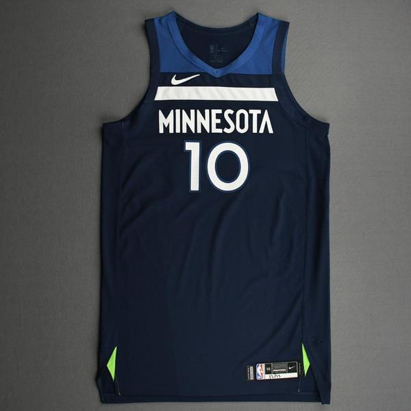 Image of Jake Layman - Minnesota Timberwolves - Kia NBA Tip-Off 2020 - Game-Worn Icon Edition Jersey