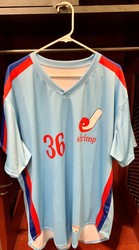 Photo of Jacksonville Expos Fauxback Jersey #36 Size 50