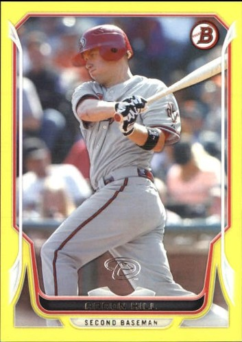 Photo of 2014 Bowman Yellow #109 Aaron Hill