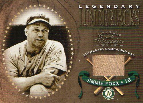 Photo of 2001 Donruss Classics Legendary Lumberjacks #LL6 Jimmie Foxx SP/300 *
