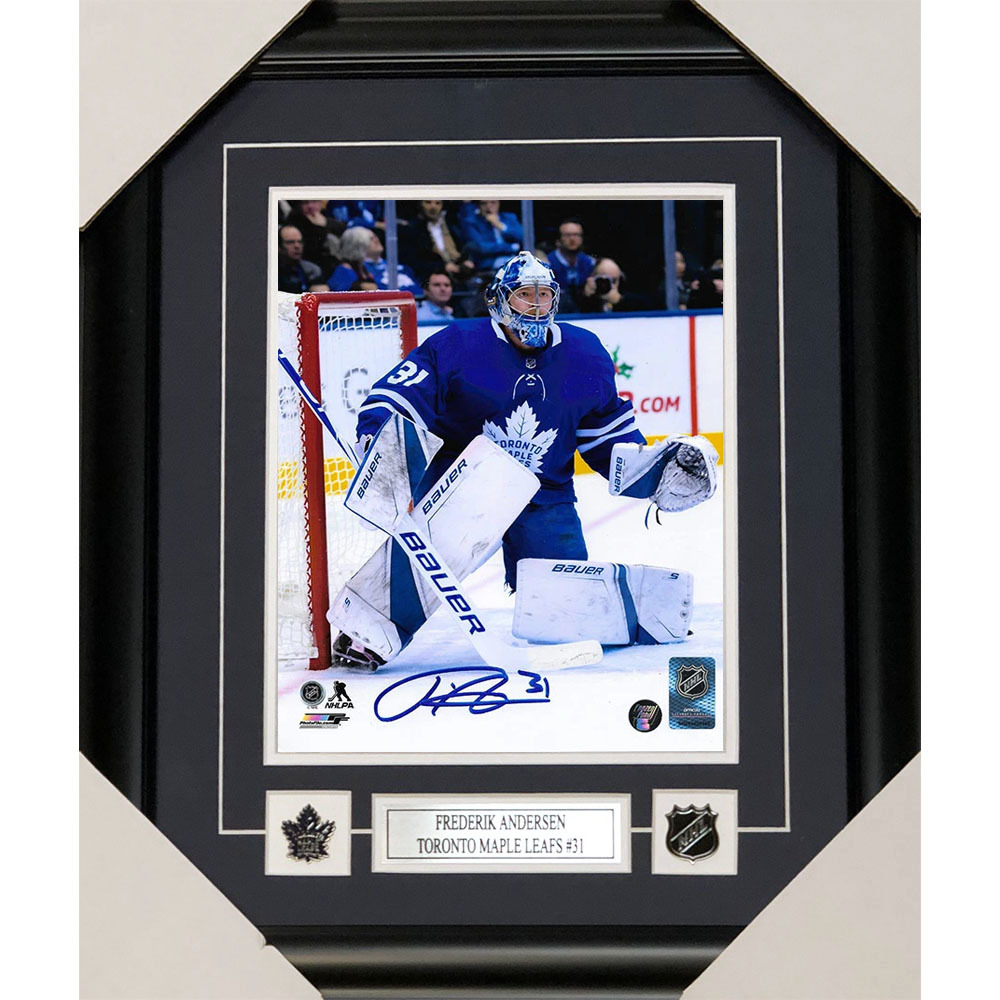 Frederik Andersen Autographed Toronto Maple Leafs Framed 8X10 Photo