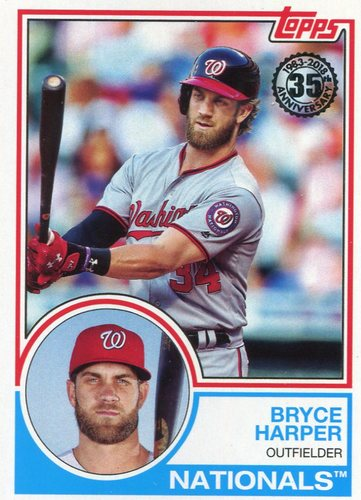 Photo of 2018 Topps '83 Topps #8384 Bryce Harper