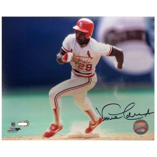 Photo of Cardinals Authentics: Vince Coleman Autographed 8 x 10 Photo