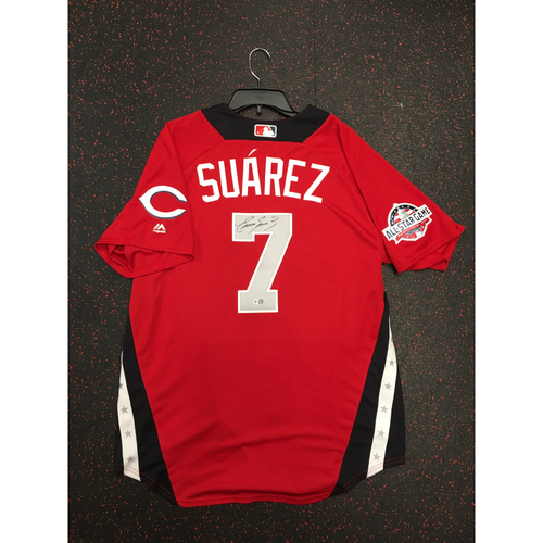 Photo of Eugenio Suarez 2018 Major League Baseball Workout Day Autographed Jersey