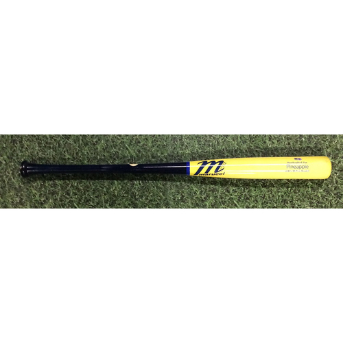 """Photo of Manny """"PINEAPPLE"""" Pina Team-Issued 2018 Players Weekend Bat"""