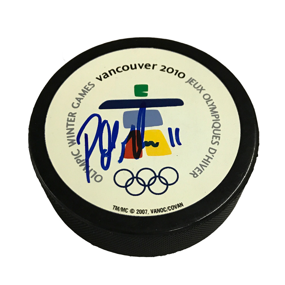 PATRICK MARLEAU Signed 2010 Vancouver Olympics Puck