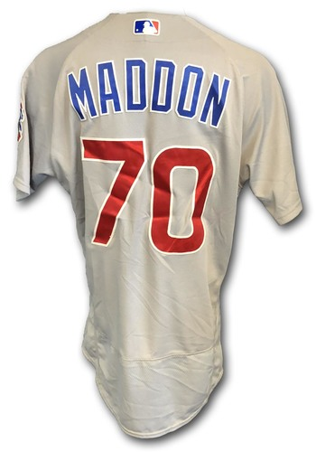Photo of Joe Maddon Game-Used Jersey -- Opening Day 2018 -- Cubs at Marlins -- 3/29/18