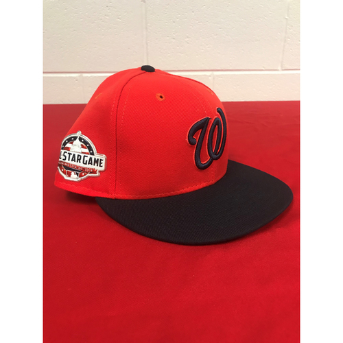 Photo of Max Scherzer Game-Used 2018 Player's Weekend Cap with All Star Game Patch - 8/26/2018