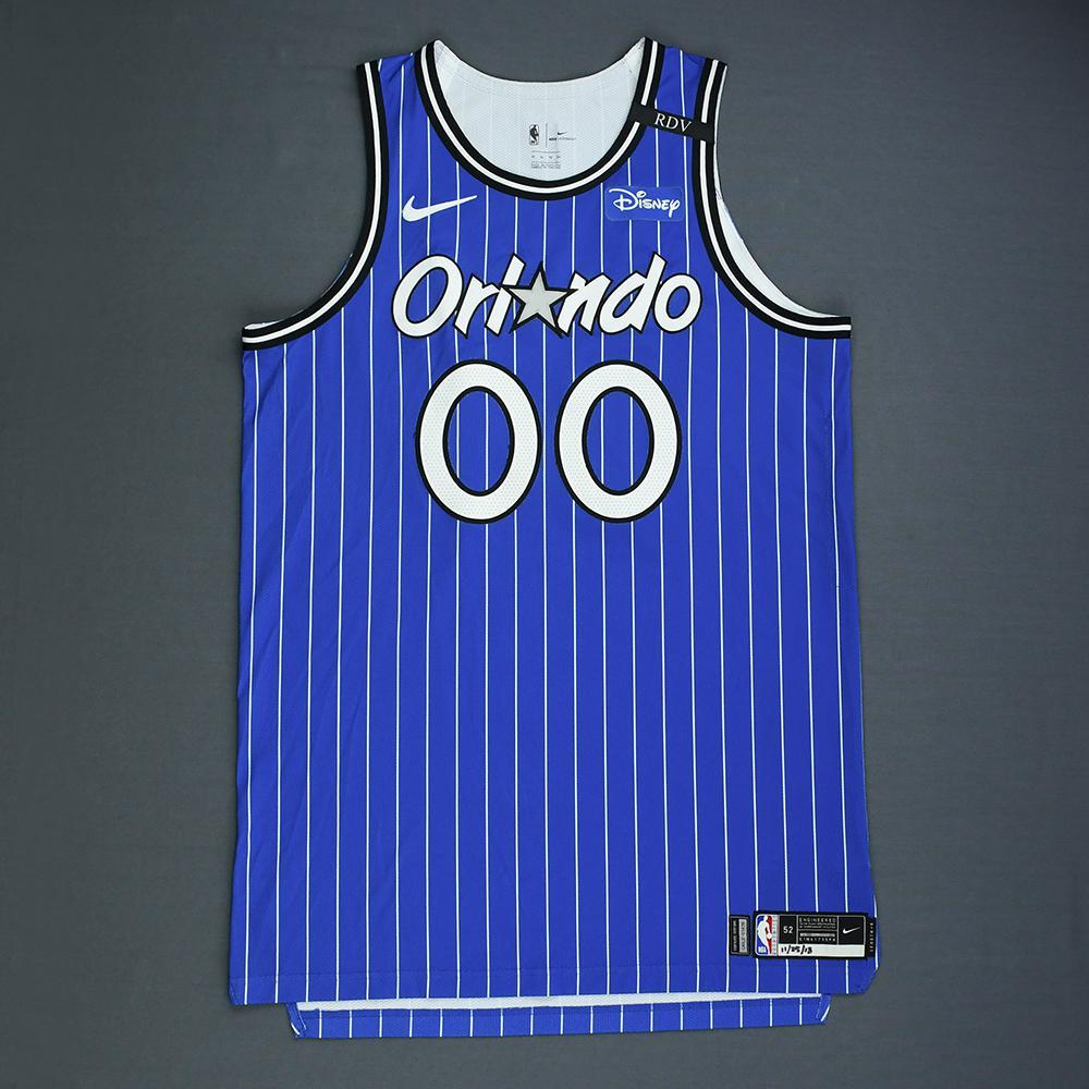 Aaron Gordon - Orlando Magic - Game-Worn Classic Edition 1994-98 Alternate Road Jersey - Worn in 5 Games - Double-Double - 2018-19 Season