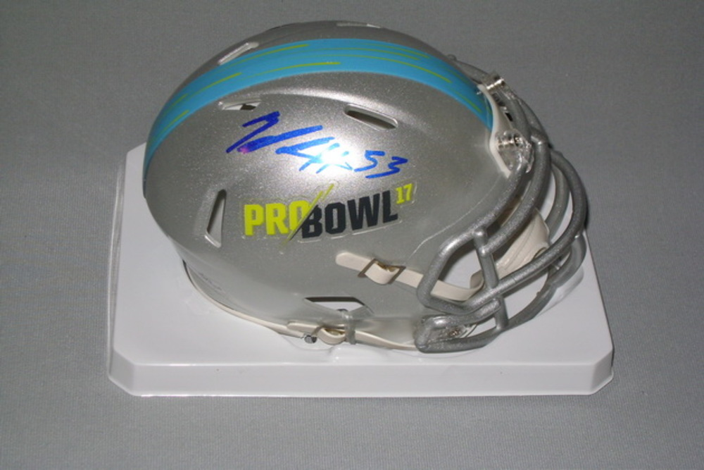 NFL - EAGLES ZACH BROWN SIGNED 2017 PRO BOWL MINI HELMET