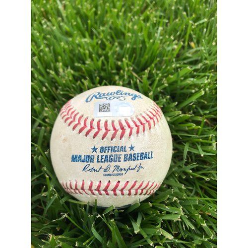 Photo of Cardinals Authentics: Game Used Baseball Pitched by Dakota Hudson to Bryce Harper *Single*