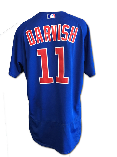 Photo of Yu Darvish Game-Used Jersey -- Darvish 6 IP, 4 ER, 3 K -- Cubs at Rockies -- 6/10/19