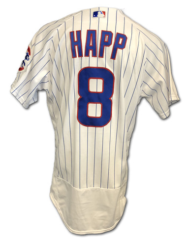 Photo of Ian Happ Game-Used Jersey -- Pinch Hit 7th HR, 2 RBI -- Cardinals vs. Cubs -- 9/21/19