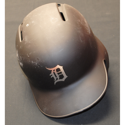 "Photo of Jordy ""THE ROOK"" Mercer Detroit Tigers Game-Used 2019 Players' Weekend Helmet"