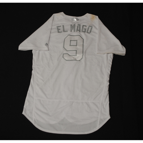 """Photo of Javier """"EL MAGO"""" Baez Chicago Cubs Game-Used 2019 Players' Weekend Jersey"""
