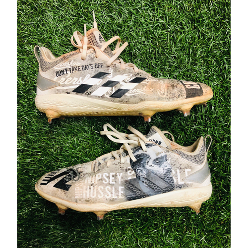 Photo of National Keratoconus Foundation: Tommy Pham - Team Issued Adidas 'Nippsy Hussle' Commemorative Autograph Cleats (Autograph NOT MLB Authenticated)