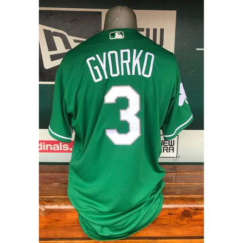Photo of Cardinals Authentics: Jedd Gyorko Team Issued Spring Training St. Patrick's Day Jersey