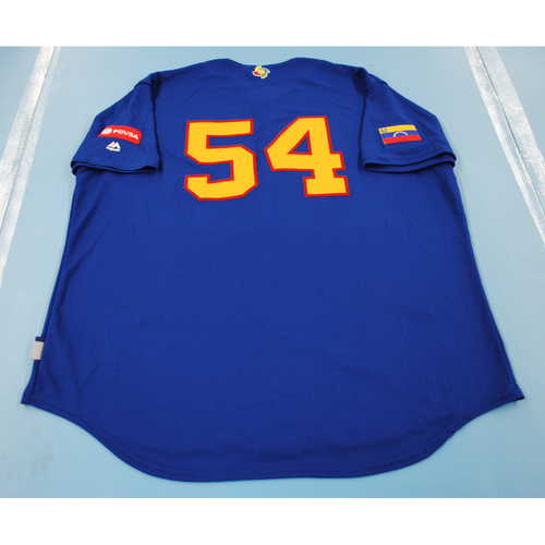 Photo of 2017 World Baseball Classic: Venezuela Batting Practice Jersey #54 - Deolis Guerra - Size XXL