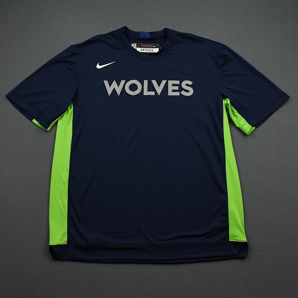 Josh Okogie - 2020 NBA Rising Stars - Team World - Warm-up and Game-Worn Shooting Shirt