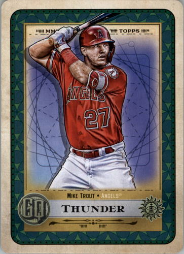 Photo of 2019 Topps Gypsy Queen Tarot of the Diamond #5 Mike Trout