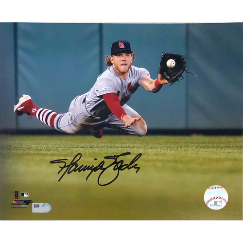 Photo of Cardinals Authentics: Harrison Bader Autographed Diving Photo