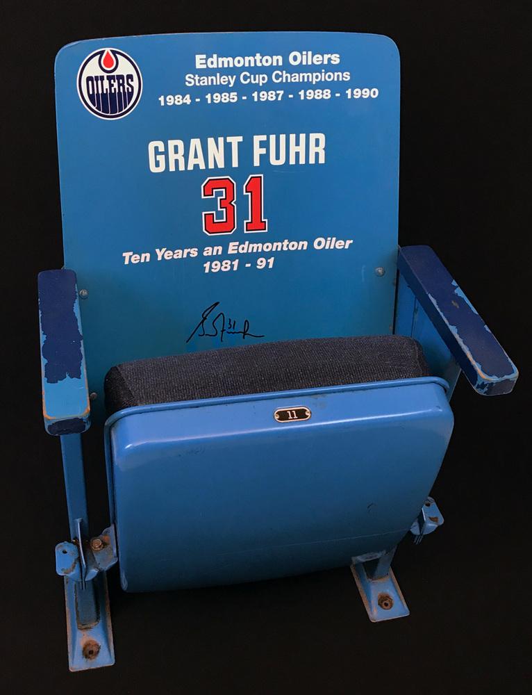Grant Fuhr Autographed Original Edmonton Coliseum Upper Bowl Seat