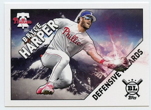 Photo of 2020 Topps Big League Defensive Wizards #DW12 Bryce Harper