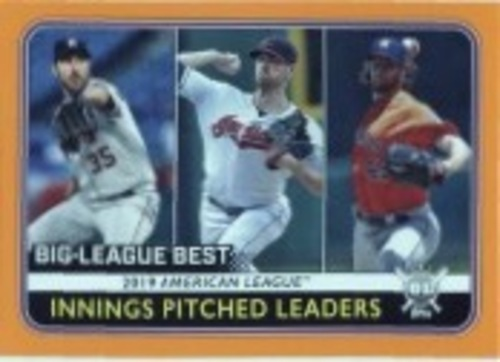 Photo of 2020 Topps Big League Orange #263 Gerrit Cole/Shane Bieber/Justin Verlander LL