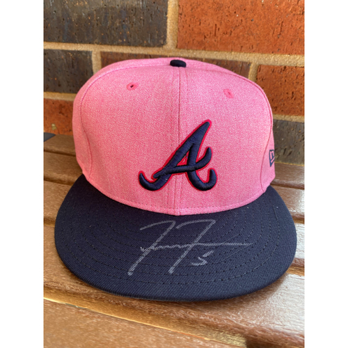 Photo of Freddie Freeman MLB Authenticated Breast Cancer Awareness Month Autographed Hat